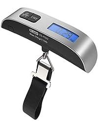 Pèse Bagage Dr.Meter 110lb/50kg Equilibre électronique Pêche numérique Échelle de Crochet de Colis postaux avec Ruban à mesurer, 2 Piles AAA incluses