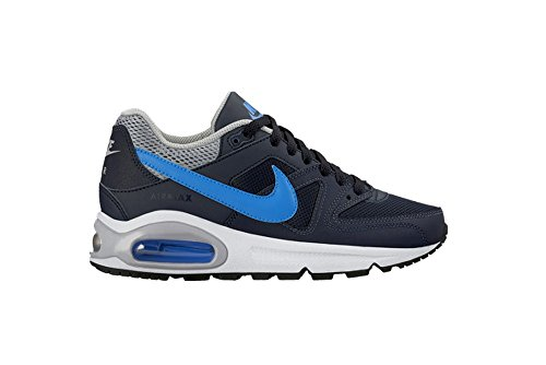 Nike Air Max Command (Gs) Scarpe Sportive, Ragazzo Negro / Azul / Gris (Obsidian / Photo Blue-Wolf Grey)
