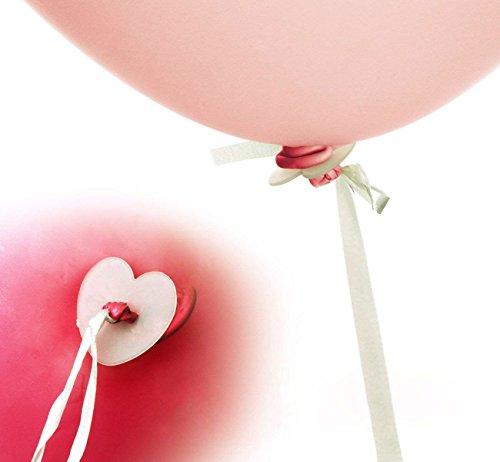 Okaytec 100 STK Helium Balloon Schnellverschluss Luftballons Ballon-Band Luftballon Verschluss Ballonverschlüsse Schnellverschlüsse mit Schnur