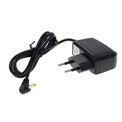 subtel® Chargeur - 1.5m (1A / 1000mA) Compatible avec Tomtom GO 910 710 700 300 Rider v1 Regional Rider 2nd Edition One Europe Navigator 6 5 Traffic (5V / 4.0mm x 1.7mm) Chargeur Câble Secteur Noir