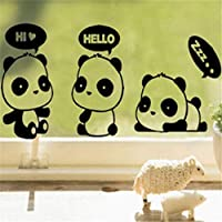 Kissherely Cute Panda Light Switch Wall Sticker Vinyl Decal Children