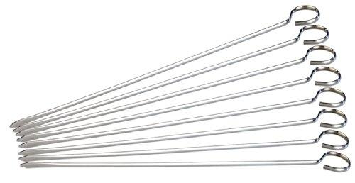 Rosenstein & Söhne Schaschlikspieße: Schaschlik-Grillspieße aus Edelstahl im günstigen 8er-Se, je 31 cm (Schaschlikspieße Edelstahl)