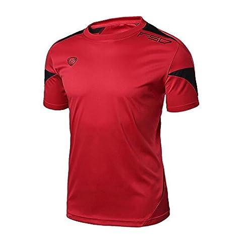 ESHOO Men Male Casual Sport T-Shirt Fitness Gym Quick Dry Stretch Top Tee Shirt