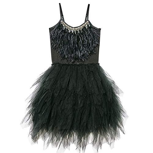 HUO FEI NIAO Ballett Rock Swan Tanzkleid 4 Farben (Farbe : SCHWARZ, größe : 120cm)