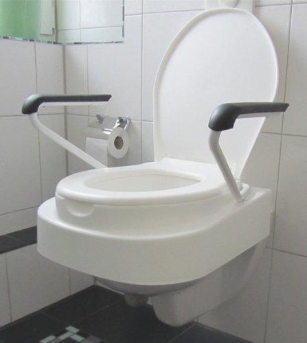 Toilettensitzerhöher mit Armlehnen und Deckel Relaxon Star HVM.-Nr. 33.40.01.3015