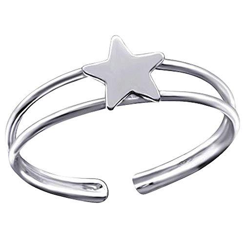 So Chic Joyas - Anillo dedo pie Estrella Plata 925