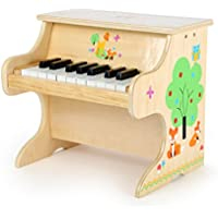 Small Foot 10724 Children's Wooden Cute Animal Applications, Toy Piano with a Scale for First Musicians, Stimulates the Creativity