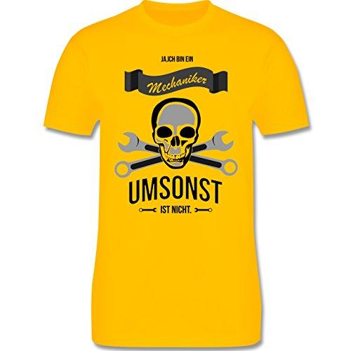 Handwerk - Mechaniker Umsonst ist nicht - Herren Premium T-Shirt Gelb