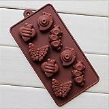 Wdehaomo -- 15 buche ciambelle pentagramma della torta di figura stampi gelatina ghiaccio cioccolato, silicone22 × 10,5 × 1,7 centimetri (8,7 × 4,1 × 0,7 pollici)