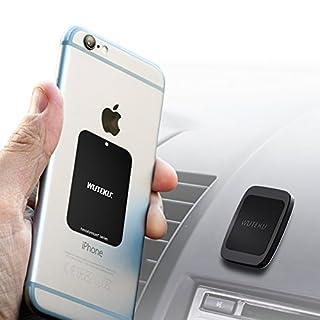 Wuteku Dash Flat Handy Halterung - Hexadymium 6 Magnete Telefone wie Samsung S9,S8 & S8 Plus S7 Edge, iPhone XR, XS, X 8, 7 Plus, 6S - Beste Magnet für auto - 100% Universal - Top bewertet von Uber