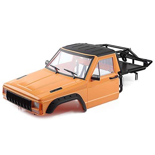 INJORA RC Auto Karosserie Cherokee Car Body Shell RC Vorne Cab mit Überrollkäfig für 1:10 RC Crawler Traxxas TRX4 Axial SCX10 90046 Redcat GEN 8 Scout II