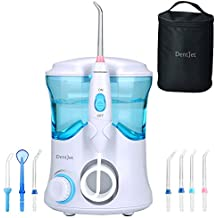 Hilo Dental de Agua Irrigador Oral, [DentJet] Cuidado Dental Profesional Impermeable Limpiador de Dientes Mondadientes de Agua para Uso Familiar con 7 Boquillas