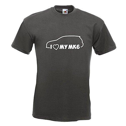 Kiwistar I Love my MK6 T-Shirt in 15 verschiedenen Farben Herren Funshirt bedruckt Design Sprüche Spruch Motive Oberteil Baumwolle Print Größe S M L XL XXL Graphit