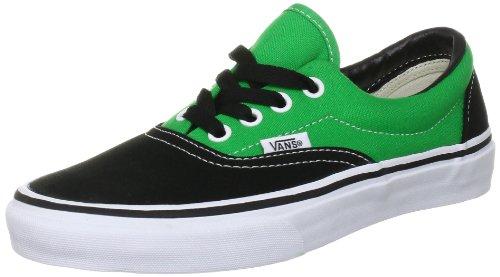 Vans Era VQFK62D, Unisex - Erwachsene Skateboardschuhe, Schwarz (Black/Bright Green), 44,5 EU/10 UK