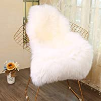 Sheepskin Faux Fur Rug Sheepskin Faux Fur Decorative With Long Hair Fur Imitation Wool Bed Sofa Rug Mat 60 x 90 cm
