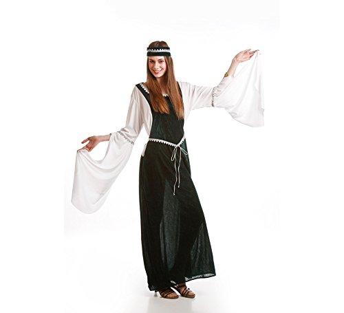 Disfraz de Dama Medieval verde para mujer