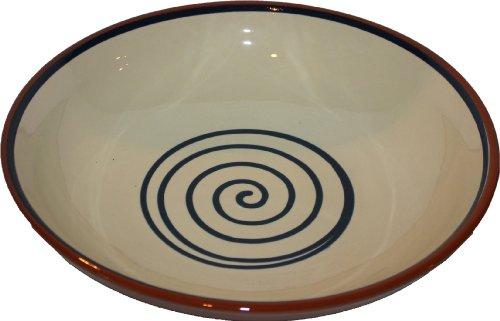 Amazing Cookware Bol Motif spirale Crème/bleu 38 cm