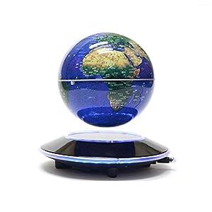Levitación magnética Bola giratoria Anti Gravedad LED Iluminado Mapamundi Tierra para Escritorio Oficina Decoración para el hogar Educación para niños