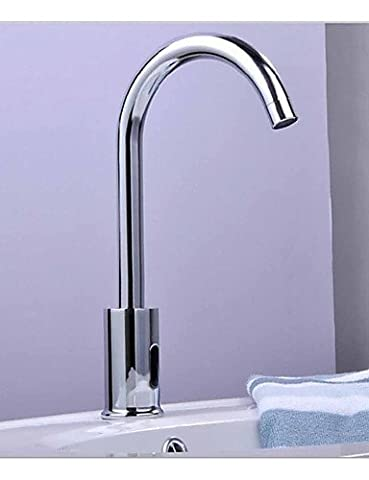 Hjkdgh robinet de salle de bain Lavabo mains libres automatique Mélangeur électronique capteur robinet