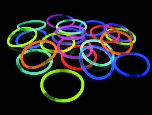 Braccialetti-Fluorescenti-Starlight-Glowstick-Disco-100-Pezzi