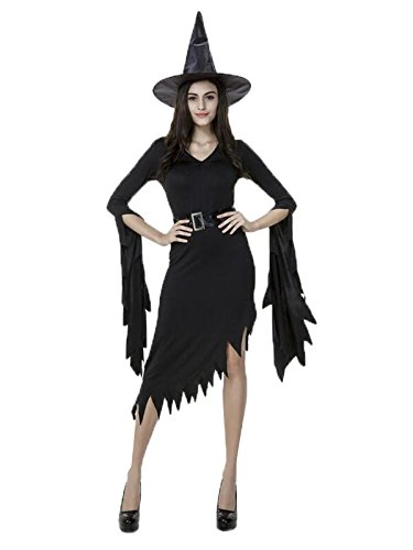 en Cosplay Wicked Devil Witch Dress Party Fancy Costume Black Medium (Anime-halloween Special)