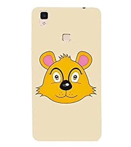 CARTOONISH YELLOW CHARACTER FOR KIDS 3D Hard Polycarbonate Designer Back Case Cover for vivo V3Max