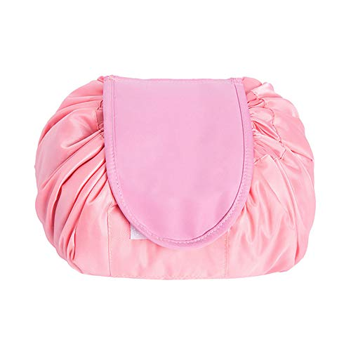 Stockage de voyage de sac de poche de cordon de bijou cosmétique de bijoux de grande capacité, rose
