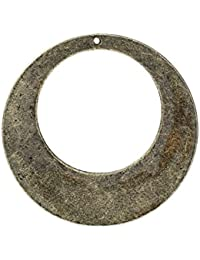 Hexawata Ancient Antique Bronze Jewelry Making Crafting Charms Findings Hollow Pendant Bulk For Bracelet Necklace...