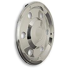 Hansen Styling Parts 17,5 Acero Inoxidable Tapacubos recto universal, apto para camiones