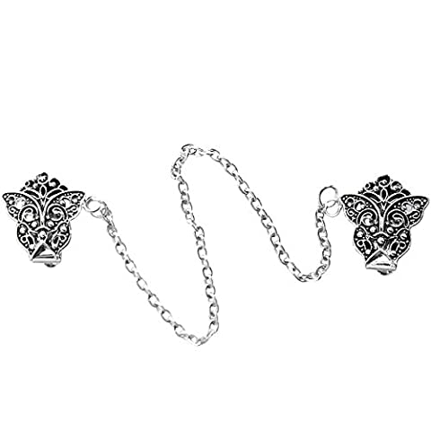 Evelots Vintage Inspired Antiqued Silver Tone Butterfly Sweater or Shawl Clip