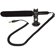 vhbw–3,5mm Jack externo Tubo direccional Micrófono para videocámara Nikon D90, D3100, D5100, D7000