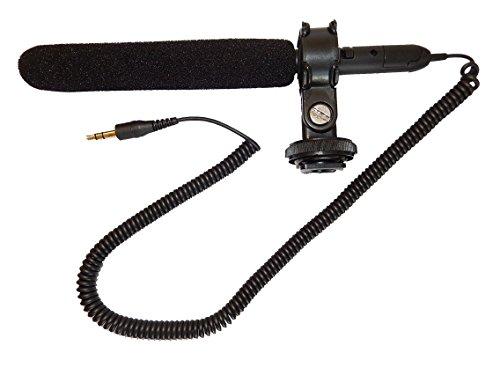 vhbw 3,5 mm Klinke externes Richtrohr Mikrofon für Kamera Camcorder Canon EOS 6D, EOS 7D Mark II, EOS 100D, EOS 650D, EOS 700D, EOS 750D