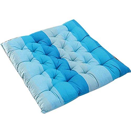Blancho Streifen-Muster-Mode-weiche Baumwollmatte Kissen-Blau -