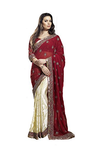 Mansi Sarees Synthetic Saree (Rr34801_Red)