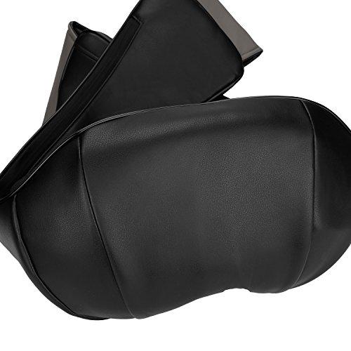 Thinp Appareil de Massage Shiatsu Masseur Cervical Portable du Nuque Dos Cou Épaule Périphérique Ceinture de Massage Chauffant Infrarouge avec Adaptateur pour Domicile Voiture Bureau - Noir image 2
