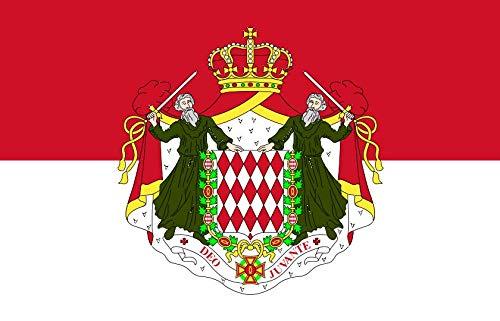 Etaia 5,4x8,4 cm Auto Aufkleber Fahne/Flagge von Monaco Monako Europa Länder Sticker fürs Motorrad Bike -
