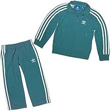 adidas Originals Firebird Kinder Jogger Set Anzug Jacke BLAU GRÜN Petrol 80 f44a24d22d