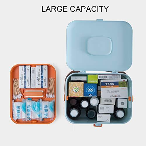 41f7DkizrKL - DreamyLife Caja de Almacenamiento de Medicamentos Caja de Medicamentos Caja Maquillaje Botiquín Caja de Almacenamiento de Plástico Botiquín de Primeros Auxilios
