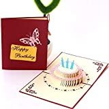 Carte d'anniversaire pop-up 3D faite à la main par BC Worldwide Ltd, carte-cadeau de...