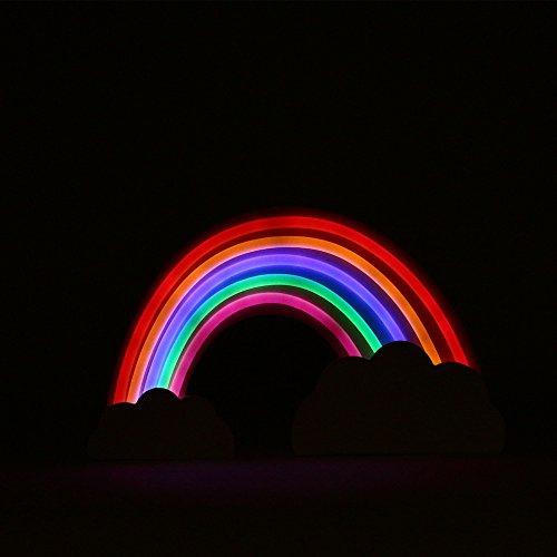Helio Ferretti Lámpara Efecto Neón Arcoíris, Multicolor