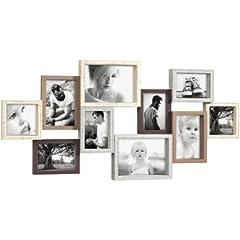 Idea Regalo - MASCAGNI CORNICE PORTAFOTO MULTIPLO IN LEGNO 10 FOTO MISTE DA MURO