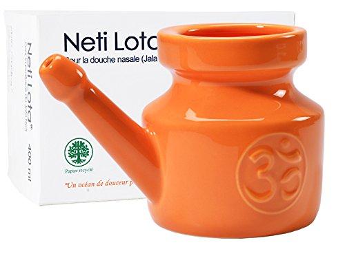 orange Natural & Alternative Remedies Diplomatic Durable Plastic Jal Neti Pot Om Printed Neti Pots & Cleansers