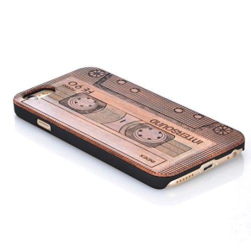iPhone 7 Plus Hülle, Vandot Holz iPhone 7 Plus Schutzhülle Ultra Dünn Echtem Wood Hart Case Cover mit PC Hard Bumper Handytasche Retro Handmade Muster Patter Passgenaues Telefonkasten Handyhülle Handg Design 13