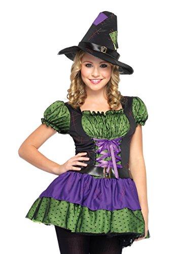 Junior Hocus Pocus Kostüm, Größe: M/L, lila/neongrün/schwarz (Hocus Pocus Halloween-kostüm)