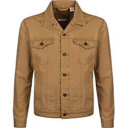 Levi's The Jacket' Chaqueta Vaquera, Beige (Desert Boots Canvas Trucker T2 0410), Large para Hombre