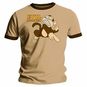 Bravado Mens Family Guy - Evil Monkey - Brown Mens T-shirt X-large Brown 11716000DP Extra large