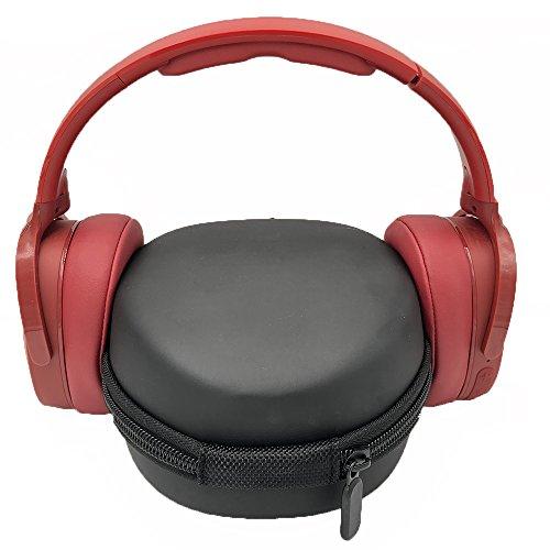 für Skullcandy S6HTW-K033 Hesh 3 Hülle EVA Trage Hart Tasche Schutzhülle Kopfhörer Schutztasche Fallbeutel Aufbewahrungstasche mit Karabiner Bluetooth Wireless Over-Ear-Kopfhörer Carry Case - 2