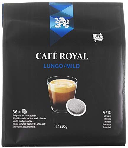 Café Royal Lungo/Mild, 180 kompatible Pads für Senseo, 5er Pack (5 x 36 Pads)