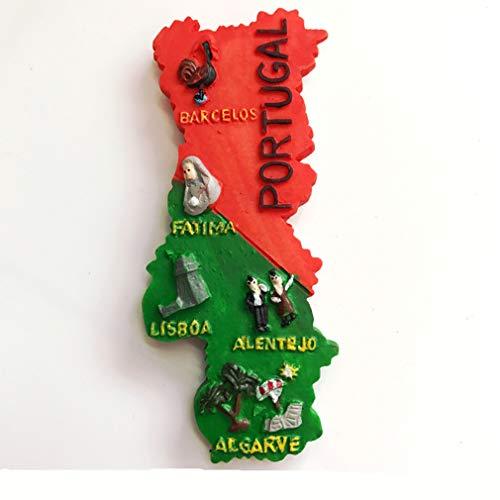 Bella 3D Magnet Frigo Aimant Frigo Aimant Réfrigérateur Décor Voyage Vacances Souvenir de Portugal Carte du Pays Fridge Magnet Sticker