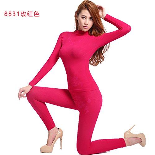 r Rundhalsausschnitt keine Naht Thermounterwäsche, bildet der Körper der engen Unterwäsche Set , das Mädchen wird , Rot (Kinder-halloween-kostüme Lieferung Am Nächsten Tag)